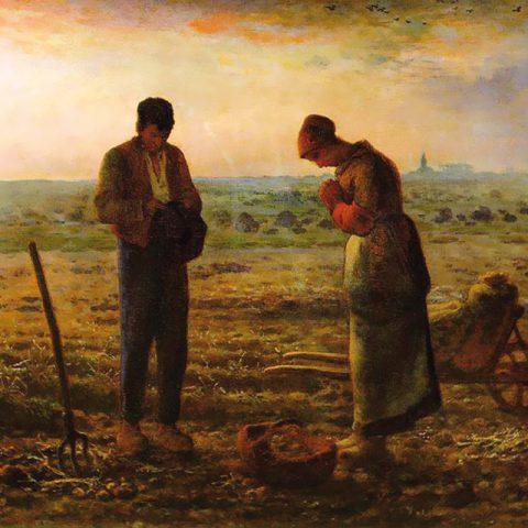 célèbre tableau l'Angélus, peint par Jean François Millet